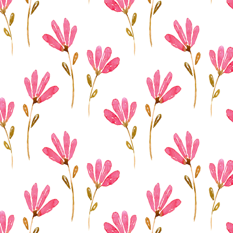 Watercolour Floral Pattern No. 1 fabric by red_raspberry_designs on Spoonflower - custom fabric