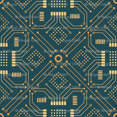 Art Deco Circuit Board