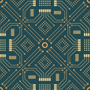 Art Deco Circuit Board