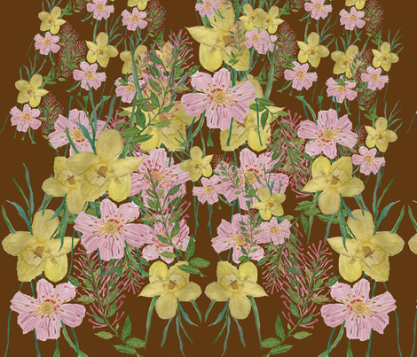 flowers in bloom fabric by janetteatkinson@yahoo_co_uk on Spoonflower - custom fabric