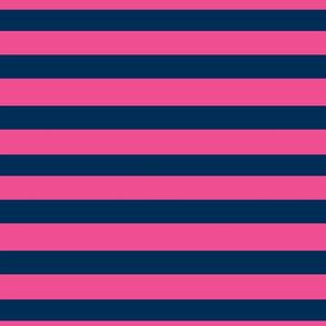 Preppy Anchor Stripes 2 SM- hot pink navy