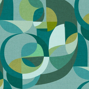 Modern Circles {Teal}