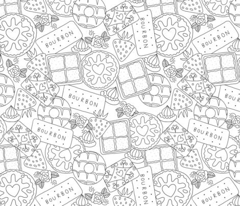 afternoon tea fabric by amelia_kate_studio on Spoonflower - custom fabric