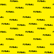 Flyball Text Yellow