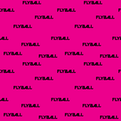 Flyball Text Pink