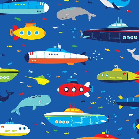 Submarine  fabric by artn'lera on Spoonflower - custom fabric