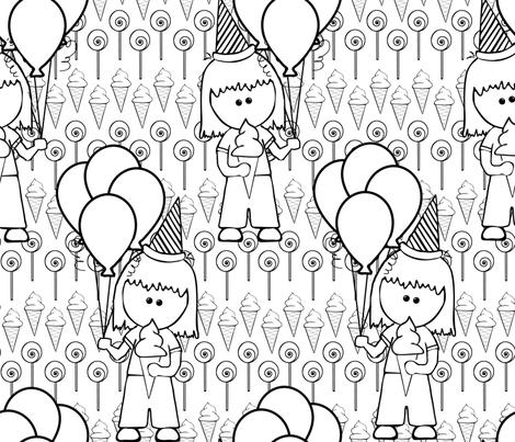 Birthday Sweets n treats fabric by lkm3s on Spoonflower - custom fabric