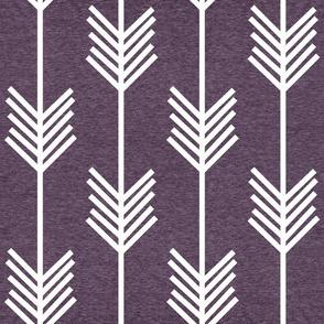 XL Arrow Stripe – Heather Eggplant