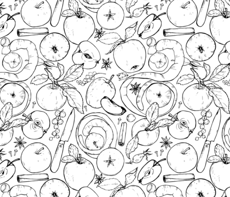 apples fabric by minyanna on Spoonflower - custom fabric