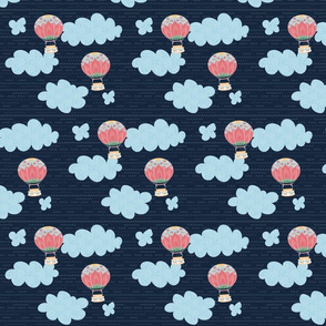 Nomi's Hot Air Balloon (navy background)