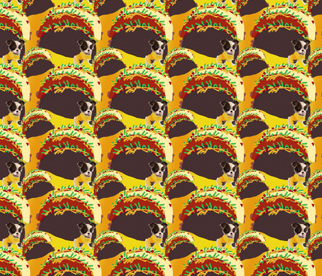 Chihuahua & Veggie Taco fabric by sherry-savannah on Spoonflower - custom fabric