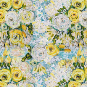 Yellow & White Van Gogh Inspired Floral