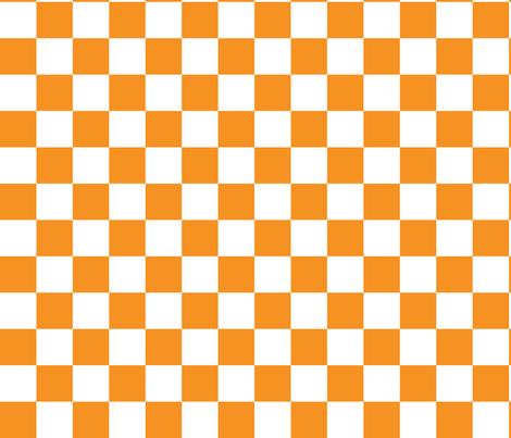 "Checkerboard Orange 1.5"" fabric by tinag on Spoonflower - custom fabric"
