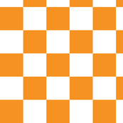 Checkerboard Orange 1.5""