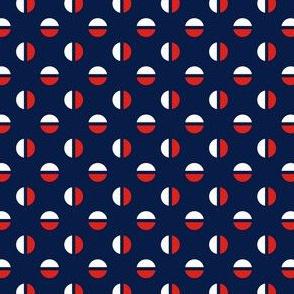 Split polka dot