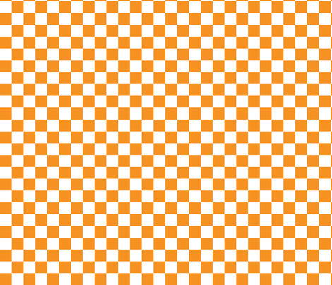 Checkerboard Orange .75 inch fabric by tinag on Spoonflower - custom fabric