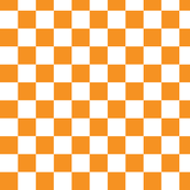 Checkerboard Orange .75 inch