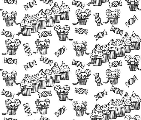 Cupcake Snake fabric by gentlysmilingjaws on Spoonflower - custom fabric