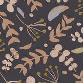 Simple Florals - Charcoal Background