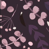 Simple Florals - Purple Background
