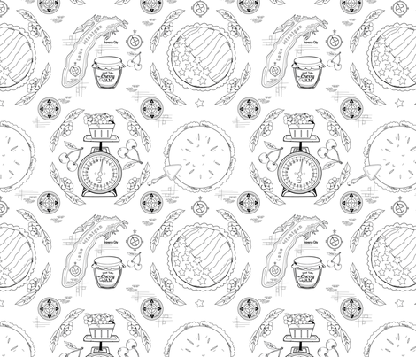 Cherry Pie Traverse City fabric by clarkyworks on Spoonflower - custom fabric