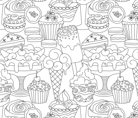 Craving Yummy Desserts?  fabric by vo_aka_virginiao on Spoonflower - custom fabric