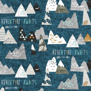 Adventure Awaits (midnight blue) SML
