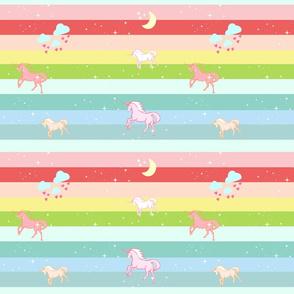 Unicorn Rainbow  Sparkle - LARGE105