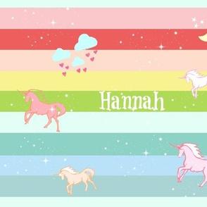 Unicorn Rainbow  Sparkle - LARGE105 PERSONALIZED Hannah