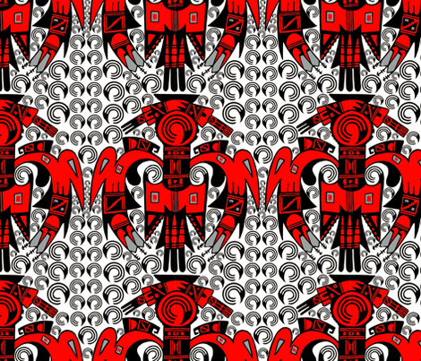 Native American Eagle and Talons fabric by fabric_is_my_name on Spoonflower - custom fabric