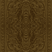 Golden Tooled Leather