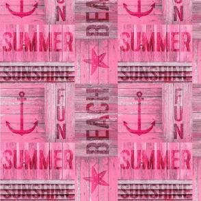 Pink Summer Wood