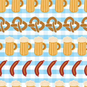 Beer, pretzels, and sausages for the Oktoberfest!