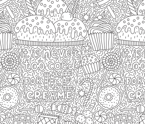 It's never too cold for ice creame fabric by pippi-draws on Spoonflower - custom fabric