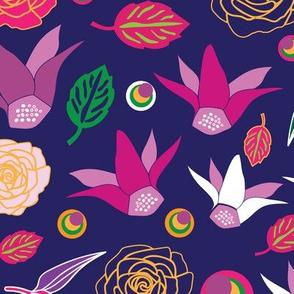 Flowers Festival-Flowers in Bloom Seamless Repeat Pattern .