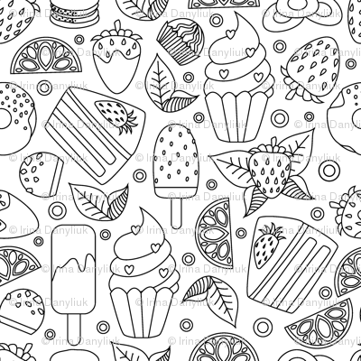 coloring book food frenzy lake