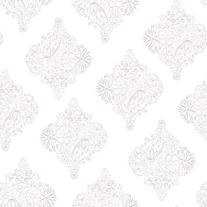 Vertical Flowerly Tiles in pastel pink