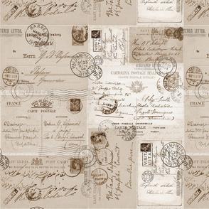 Vintage Letter Pattern