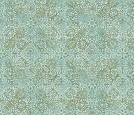 Oriental Teal Damask fabric by andrea_haase_design on Spoonflower - custom fabric