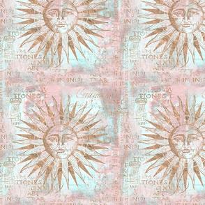 Rose Gold Sun Art