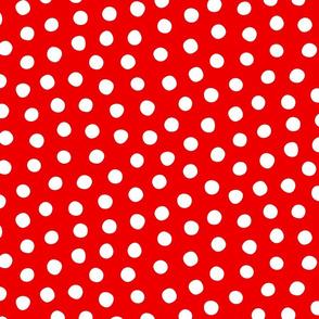 Lush Lipstick Red White Spots 12x12