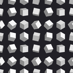 3d cube geometric pattern