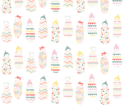 wrap 'em up like a baby burrito fabric by booboo_collective on Spoonflower - custom fabric