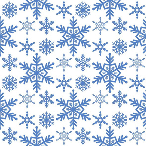 Snowflake Merry Christmas and Happy New Year winter holiday background