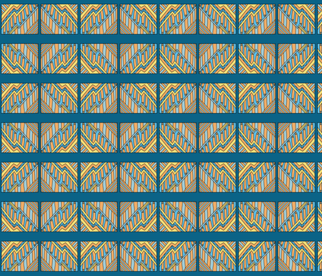 AB_1001_B Abstract Piano Notes on denim blue fabric by charlotte_donaldson_designs on Spoonflower - custom fabric