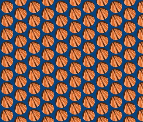 AB_1003_B Double Arrow Pie Slices on Blue fabric by charlotte_donaldson_fabrics on Spoonflower - custom fabric