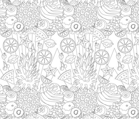 Fruit Fiesta fabric by kittenmoonstudio on Spoonflower - custom fabric