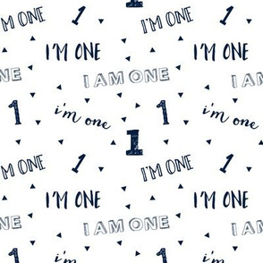 I'm one // first birthday (navy) C18BS