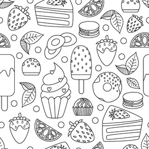 coloring book sweets food