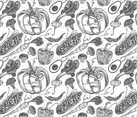 Vegetables  fabric by julia_gosteva on Spoonflower - custom fabric